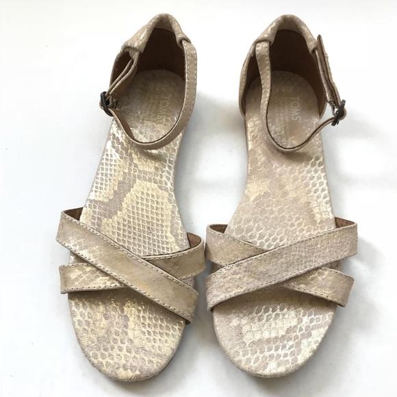Toms snakeskin Correa Sandals